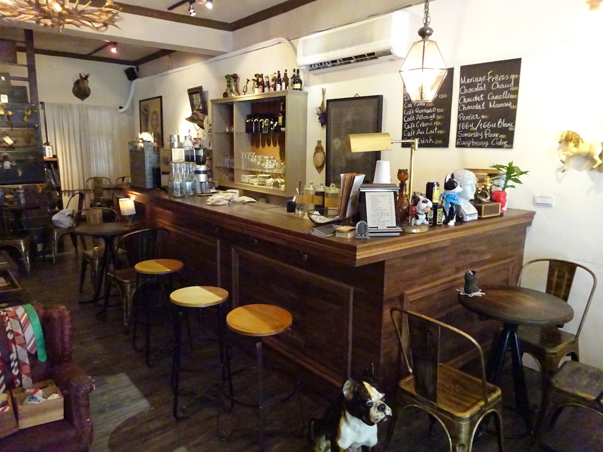 the bar of Modern Mode & Modern Mode Café
