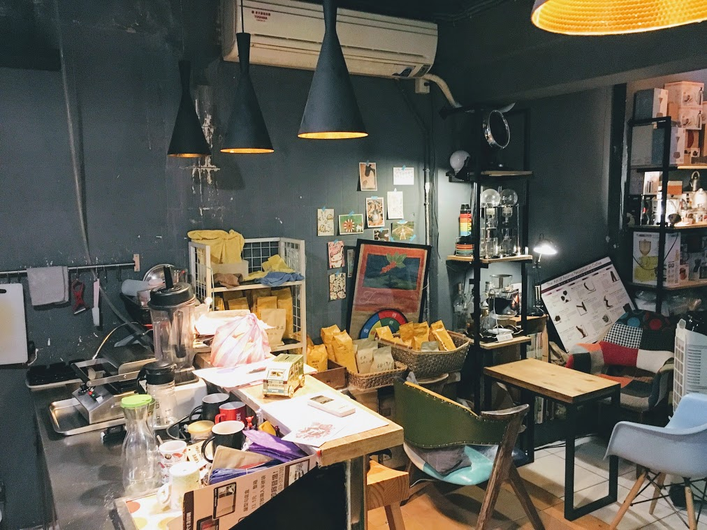 the working area in ColorRoastCafe