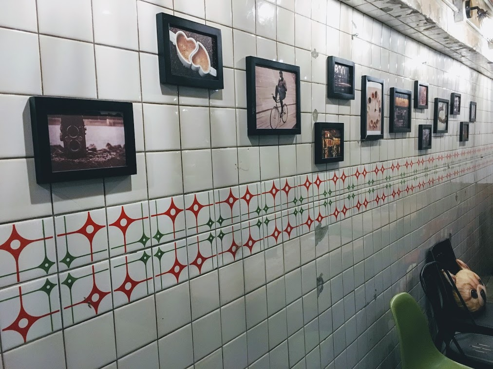 the tile wall in Choose Me Cafe & Meal
