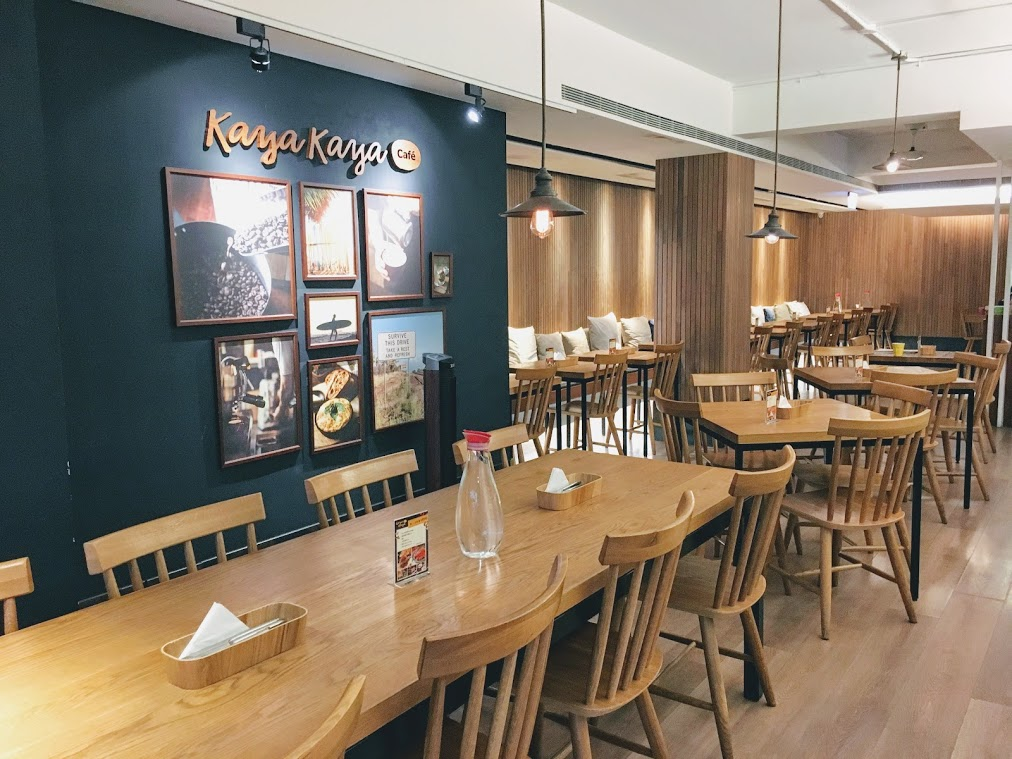 the main seating area in the Kaya Kaya Café